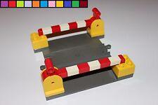 Lego Duplo - Bahnübergang mit Schranken - dunkel-grau gelb - Eisenbahn