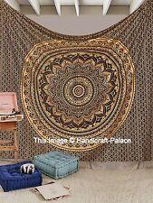 Indian Gold Ombre Mandala Tapisserie Hippie Königin Wand Hängen Bettdecke Werfen