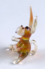 Miniature Lampwork Tiny Hand Blown Art Glass Donkey Figurine Very Detailed!