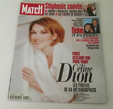 CELINE DION ** PARIS MATCH Magazine ** Vintage Octobre 1996'