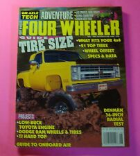 FOUR WHEELER MAGAZINE JUNE/1998...TIRE SIZE GUIDE: WHEEL OFFSET AND DATA