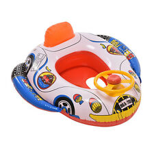 1 PC Kids Cartoon Car Pattern Swimming Pool Inflatable Float Boat Toys Summer