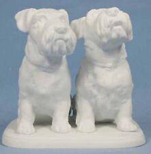 Terrier hund porzellan hund airdale schnauzer hundefigur Tettau porzellanfigur