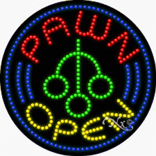"NEW ""PAWN OPEN"" LOGO 26x26 SOLID/ANIMATED LED SIGN w/CUSTOM OPTIONS 21332"