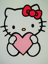 Hello Kitty With Heart Die Cut Paper Scrapbook Embellishment