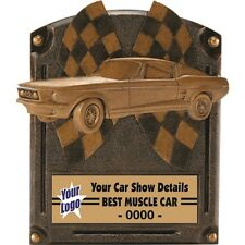 MUSTANG MUSCLE CAR PLAQUE RACING CAR SHOW AWARD RESIN TROPHY FREE LETTERING