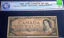 $100 Bank Of Canada 1954 VF