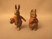 Vintage Vienna Bronze, 2 Beatrix Potter figures, Peter Rabbit, Timmy Tiptoes