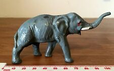 VG RAISED TRUNK ELEPHANT Vintage J Hill Co Johillco Painted Lead Zoo Wild Animal