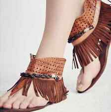 NEW Free People FP Collection Journey Through Time Sandals Whiskey Brown Sz 40