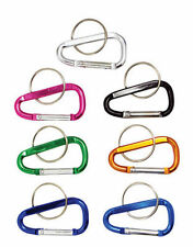 "New 3pc 2""(45mm) Aluminum Carabiner D-Ring Key Chain Clip Hook - Assorted Colors"
