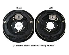 "12"" x 2"" Left & Right Side Electric Trailer Brake Aseembly 6000 7000 Axle Brakes"