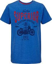 • Demo Boys Motorbike T-Shirt In Blue Marl Size 7-8 Years Free UK P&P