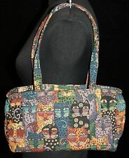 Womens Laurel Burch Cat Print Tapestry Purse Handbag Shoulder Bag