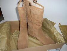 BRAND NEW IN BOX 12 M UGGS SOFT ULTRA PLUSH TALL CAMEL SUEDE SHEARLING INSIDE
