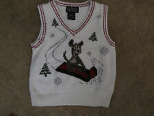 HOLIDAY CHILDRENS PLACE boys SLEDDING DOG SWEATER VEST sz 18 months
