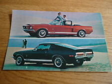 ORIGINAL, PERIOD, FORD SHELBY COBRA GT POSTCARD Brochure related jm