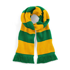 Green & Yellow Football Club Retro Bar Scarf In Norwich City FC Colours