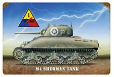 "M4 Sherman Tank  17"" X 11"" Metal Sign"