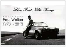 Fast And Furious 7 'RIP PAUL WALKER' Postcard *NEW*