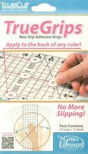 Quilting Ruler Grip ~ True Grips ~ Non Slip Adhesive Rings ~ 2 Sizes