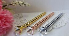 Ballpoint Pen Diamond Crystal Head 3 Pak - Gold, Chrome, Rose Gold High Quality