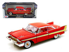 MOTOR MAX 1:18 TIMELESS CLASSICS 1958 PLYMOUTH FURY Diecast Car 73115 Red