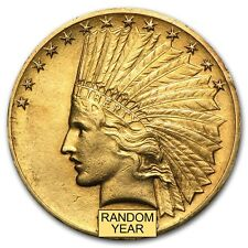 $10 Indian Gold Eagle Pre-33 Gold Coin - Random Year - Extra Fine - Sku #14241