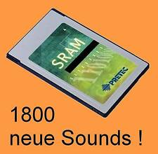 PCMCIA SRAM Card mit 8 Expando Banks für ALESIS QS-Serie, 1800 new sounds  LOOK@