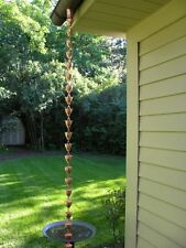 Rain Chain Copper 8 8.5 Feet Gutter Decorative Chains Cup New Rainchain Ft