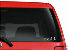 Star Trek Set of 4 Insignia SMALLER cut vinyl window bumper sticker decal