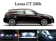 White LED Package - License Plate + Vanity + Reverse for Lexus CT 200H (6 Pcs)