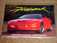 1996/1997 Pontiac Trans Am Firehawk Factory Original SLP Owners Manual Mint