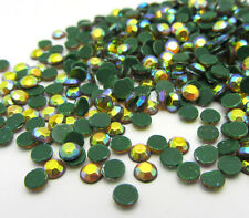 Hot 800pcs 3MM Round FlatBack Iron On Hotfix Crystal Rhinestones YellowAB
