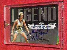 LARRY BIRD 2012 LEAF METAL Nicknames Holo Autograph #NN-LB1 On Card Auto 27/50