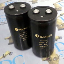 KENDEIL K02 450222 2200 uF 450 VDC SNAP-IN ALUMINUM CAPACITOR, LOT OF 2