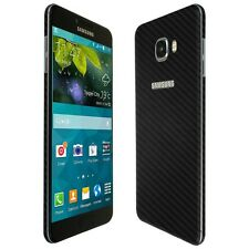 Skinomi Black Carbon Fiber Skin+Clear Screen Protector for Samsung Galaxy C7