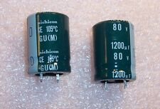 QTY (5)  1200uf 80V 105' SNAP-IN ELECTROLYTIC CAPACITORS LGU1K122MHLZ NICHICON