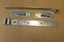 "Hook & Band Cranked 24"" Heavy Duty gate stable & garage Door Hinges Galv/A3"