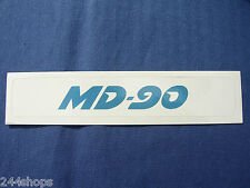MCDONNELL DOUGLAS - MD 90 - DECAL - 1 1/2 X 8 1/2""