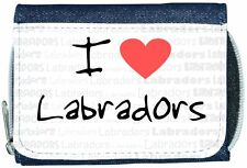 I Love Heart Labradors Denim Wallet