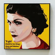 Coco Chanel canvas quotes wall decals photo painting framed pop art poster