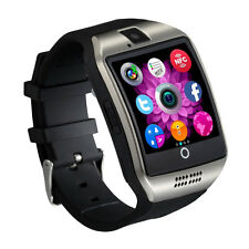 Bluetooth Smart Pedometer Watch Q18 for Android Samsung SIM Card Silver