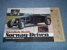"1929 Ford Track A Roadster Hot Rod Article ""Swedish-Built Norway-Driven"""