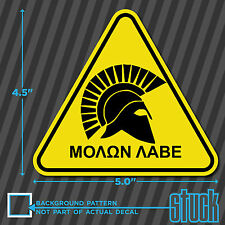 "Molon Labe Triangle -5""x4.5""- vinyl decal sticker come and take it assault rifle"