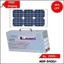 70 W Solar & AC Powered Invertor Portable Inverter with Solar Panel 12 V Battery