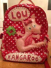 Cute Room Seven Oilily Boutique Kids Lou Kangaroo Backpack Red & White Polka Dot