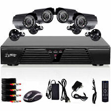 4CH CCTV DVR H.264 Home Surveillance Network Security Ourdoor IP Camera System