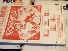 Pinball STERN Monopoly Operations & Parts & Schematics ORIGINAL Manual Flipper