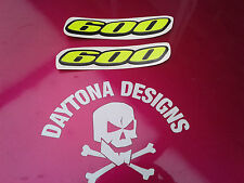 GSXR 600 DAYGLOW YELLOW & BLACK GRAPHICS DECALS STICKERS CUSTOM PAIR